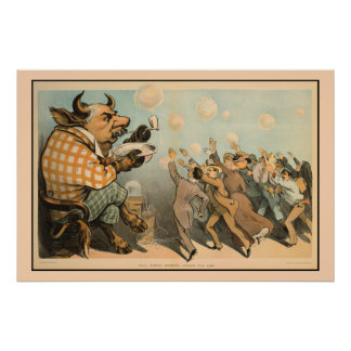 Wall street bubbles, always the same poster