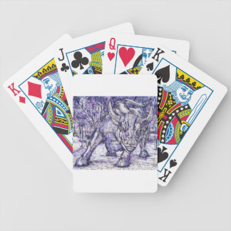 wall street bull bicycle playing cards