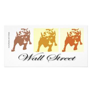 Wall Street Bull Market Custom Photo Card