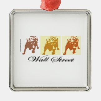 Wall Street Bull Market Metal Ornament