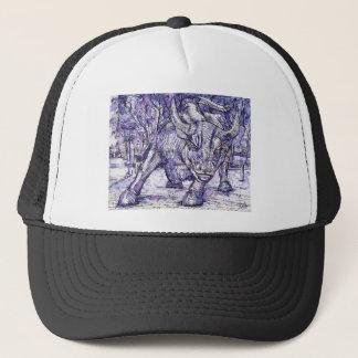 wall street bull trucker hat