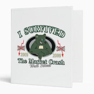 Wall-Street I Survived the Market Crash Vinyl Binders