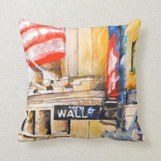 Wall street I Throw Pillow