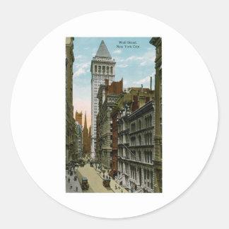 Wall Street, New York City Stickers