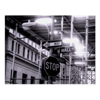 Wall Street postcard
