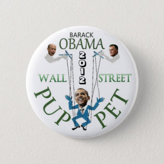 Wall Street Puppet 2 Inch Round Button