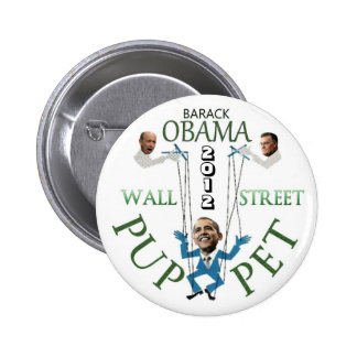 Wall Street Puppet 2 Inch Round Button