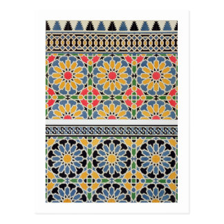 Wall tiles from the mihrab of the Mosque of Cheykh Postcard