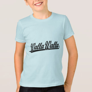 Walla Walla  script logo in black T-Shirt
