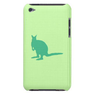 Wallaby. Animal in Green. Barely There iPod Case