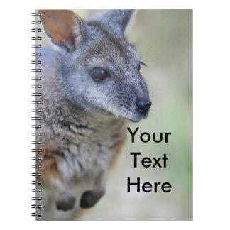Wallaby Australian native animal Notebook