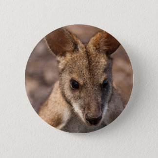 Wallaby badge 2 inch round button