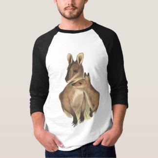 Wallaby Mum and Baby (painting) T-Shirt