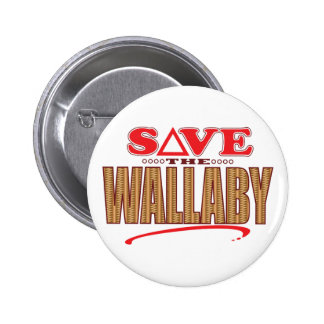 Wallaby Save 2 Inch Round Button