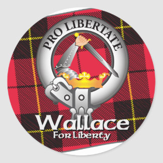 Wallace Clan Classic Round Sticker