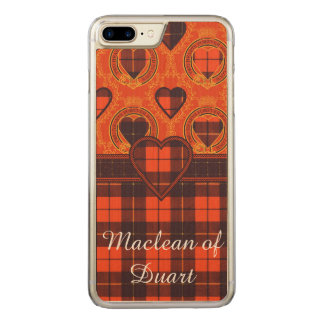 Wallace clan Plaid Scottish tartan Carved iPhone 8 Plus/7 Plus Case