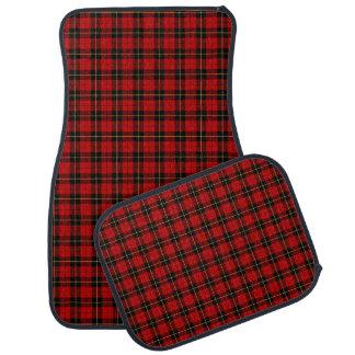 Wallace Clan Red and Black Tartan Car Mat