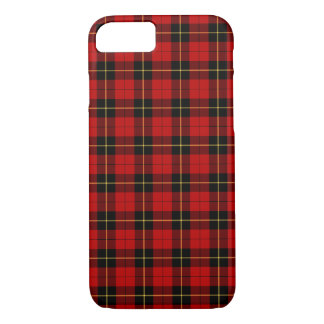 Wallace Clan Red and Black Tartan iPhone 7 Case