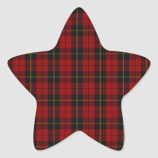 Wallace Clan Scottish Tartan Star Sticker
