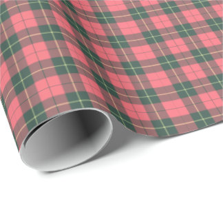 Wallace Clan Weathered Tartan Wrapping Paper