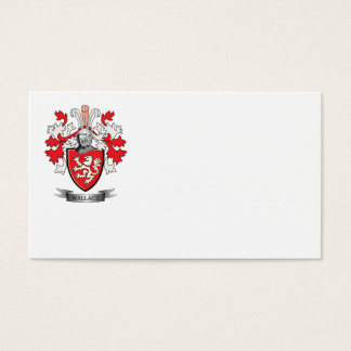Wallace Family Crest Coat of Arms Business Card