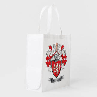 Wallace Family Crest Coat of Arms Grocery Bags