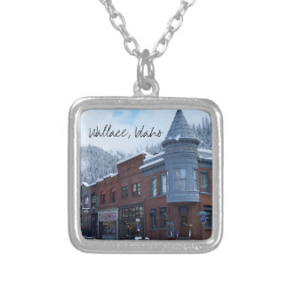 Wallace Idaho in Winter Silver Plated Necklace