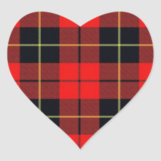 Wallace plaid heart sticker