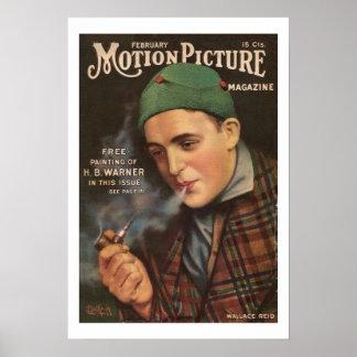 Wallace Reid Vintage 1917 Movie Magazine Print
