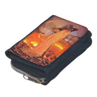 Wallet as a Jean Hestia Goddess of crowned fire
