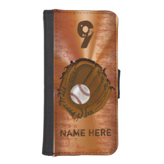 Wallet Baseball Phone Case for iPhone or Galaxy iPhone 5 Wallets