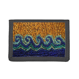 Wallet | Beading Print of Waves Sea Sand