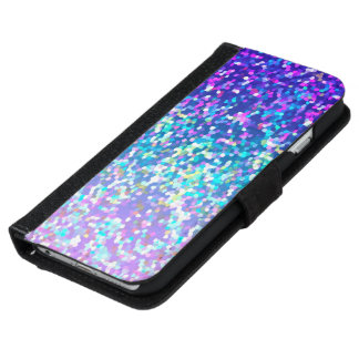 Wallet Case iPhone 6 Glitter Graphic