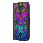 Wallet Case iPhone 6 Plus Floral Fractal Art