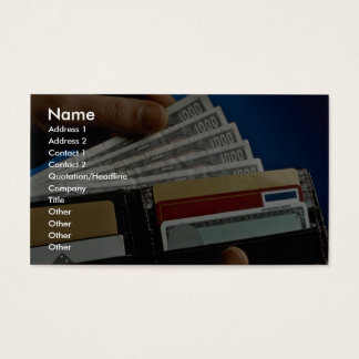Wallet in hand business card