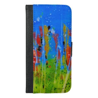 Wallet phone case with splashed-colors