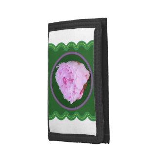 Wallet TriFold choose Nylon Denim or Leather rose