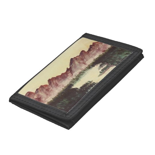 Wallet with mountain landscape