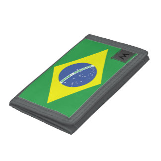 Wallet with the Brazilian Flag and your Monogram