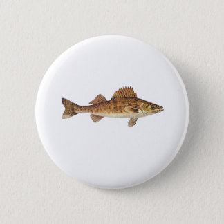 Walleye Art 2 Inch Round Button