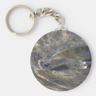 Walleye Caught Basic Round Button Keychain