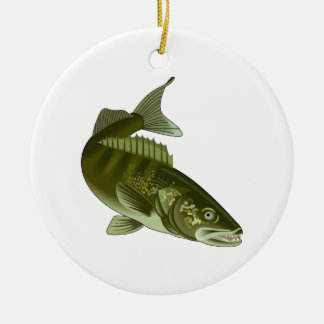 WALLEYE CERAMIC ORNAMENT