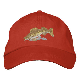 Walleye Embroidered Baseball Caps