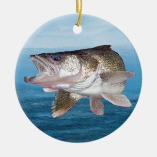 Walleye Fishing Ceramic Ornament