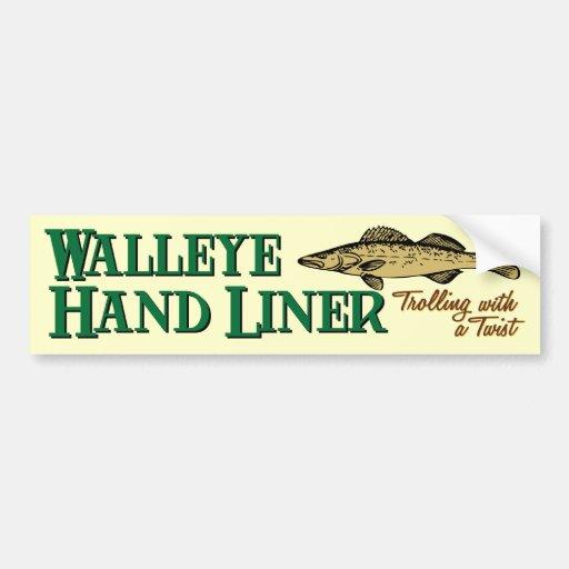 Walleye Handliner Bumper Sticker