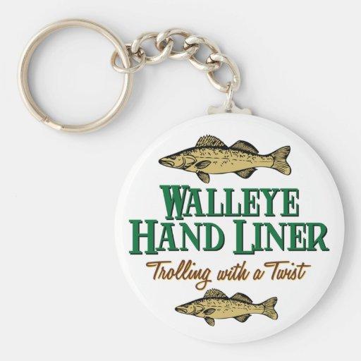 Walleye Handliner Key Chain