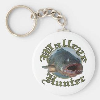 Walleye Hunter 2 Basic Round Button Keychain