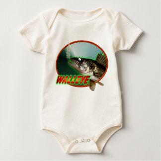 Walleye  In Oval Baby Bodysuit