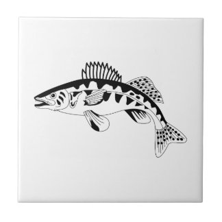 Walleye Outline Tile