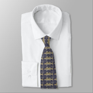 Walleye Pike on Navy Blue Tie